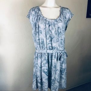 Lauren Conrad paisley dress with tie waist